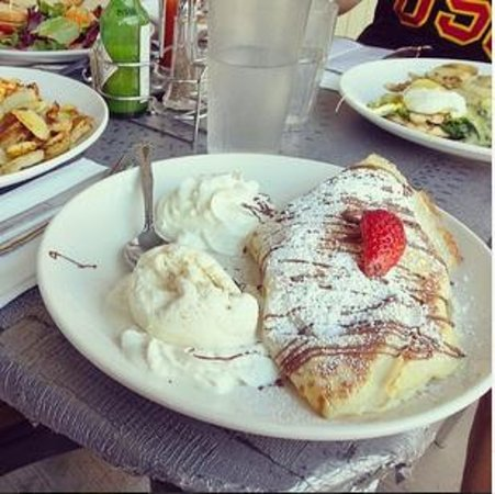 Photo of American Restaurant Whispers Cafe & Creperie at 390 El Camino Real, Belmont, CA 94002, United States