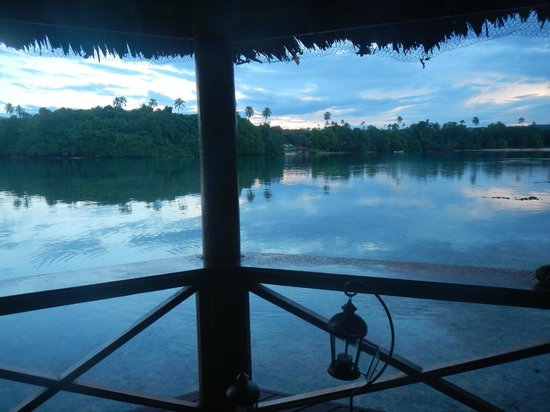 Oyster Island Resort: View from deluxe bamboo bungalow