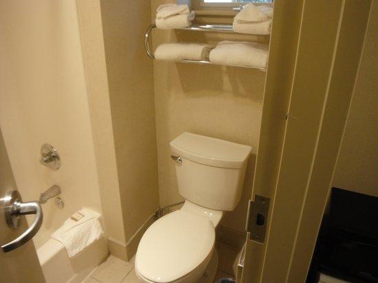 Howard Johnson Marina at Monterey Bay : Clean toilet