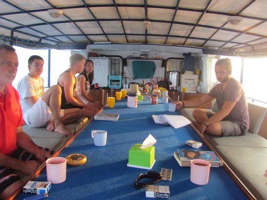 Scuba Cat Diving - Soi Watanna Shop and Classrooms : On-board - on the deck!