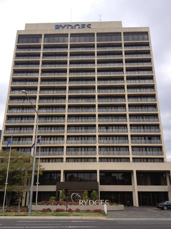 QT Canberra: Exterior of the hotel