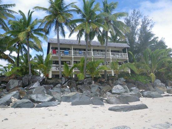 The Edgewater Resort & Spa: Our room top right corner in Aitutaki Block.