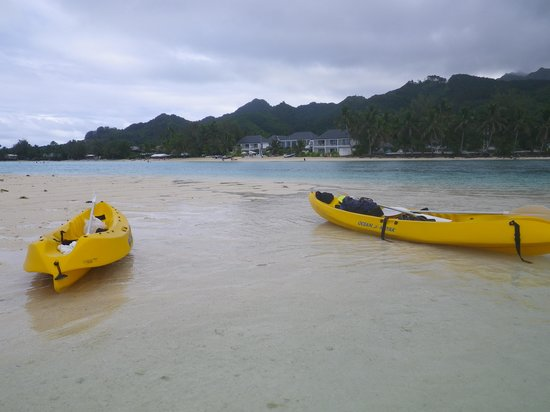 Muri Beach Club Hotel : Looking back at property from an island we kayaked to.