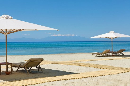 Sani, Greece: Private Beach