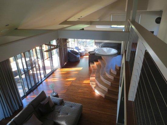 سيدارز ماونت فيو: Living area with Spa