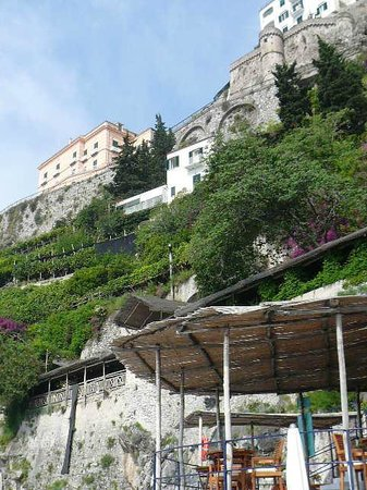 Santa Caterina Hotel: la costiera dalla livello mare