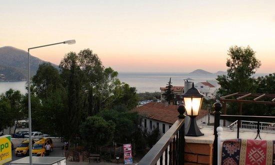 The view from the Adana Ocakbasi rooftop restaurant in Kalkan
