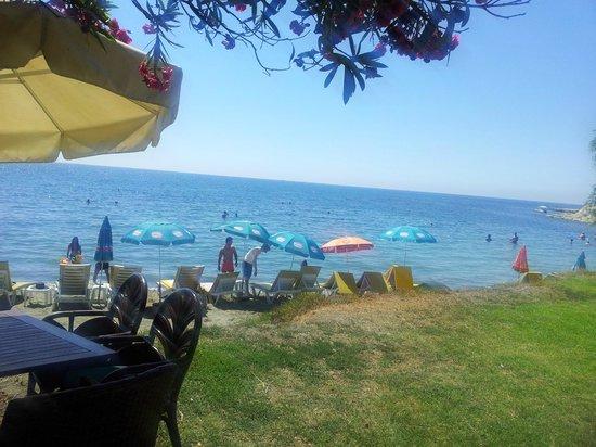 Andreas & Melani Beach Hotel: Strandausblick