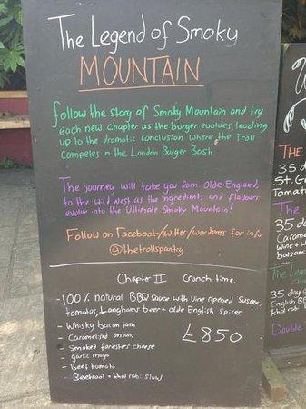 The Druids Arms : The marvellous smokey Mountain
