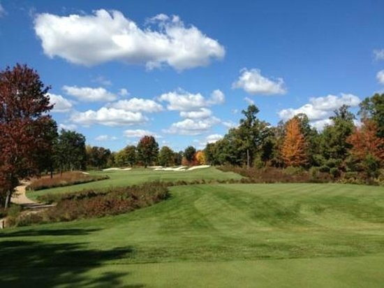 Lake AuSable Lodge at Forest Dunes Golf Club: fall day on the Forest front nine