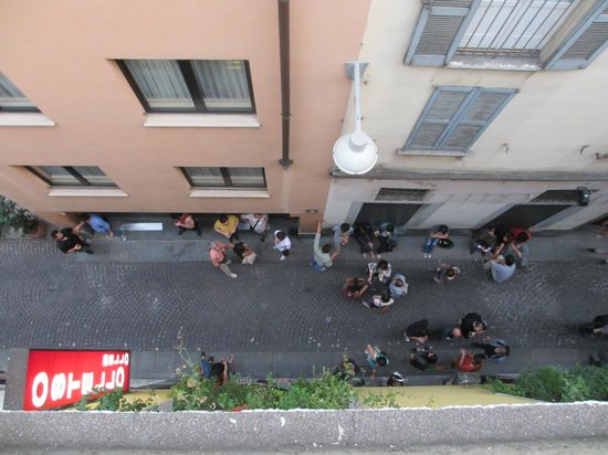 Ostello Bello: View of lane way from rooftop terrace