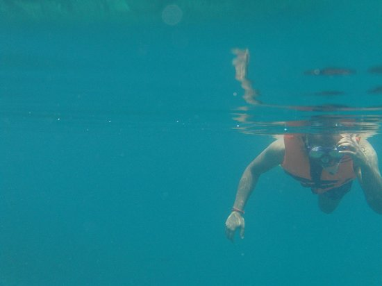 Alang's Rawa : That's me (Front View) snorkeling!