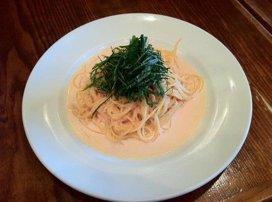 Napoli pizza & pasta Mar: Mar Tarako (Cod Roe) Spaghetti with Shiso