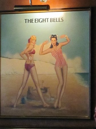 The Eight Bells JD Wetherspoon: cute pictures on walls