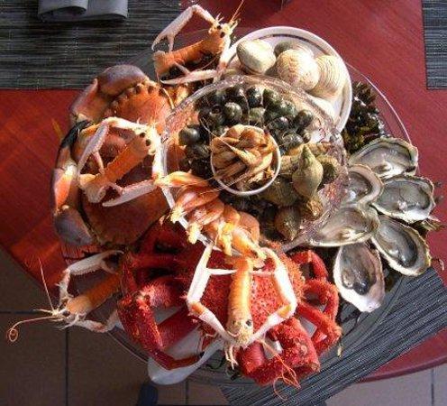 Le St Valentin: Le plateau de Fruits de mer sur Réservation