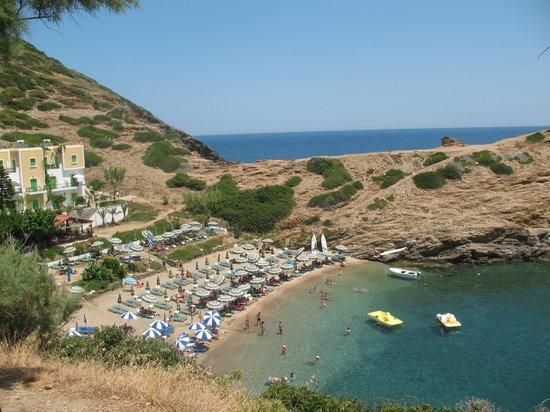 Villa Vasilis: Пляж Каравостаси