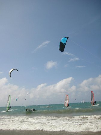 Beach Palace Cabarete: Watching the kite surfers was fun