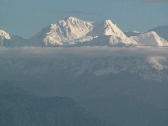 View of Kanchenjunga range from sundeck at Viceroy hotel