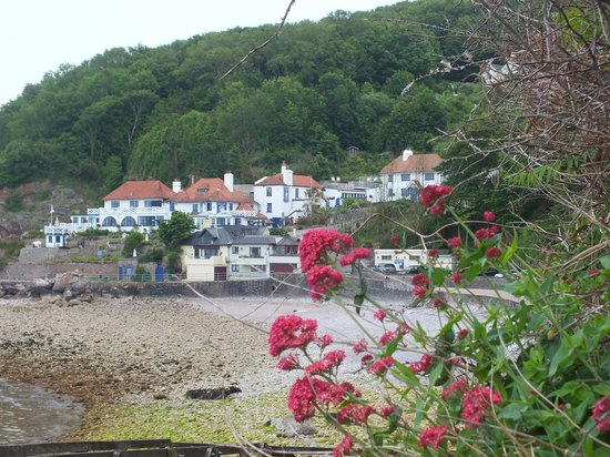 Looking back to Cary Arms from Oddicombe beach