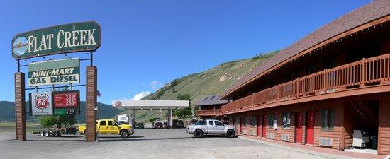Flat Creek Inn and its fuel/gas station