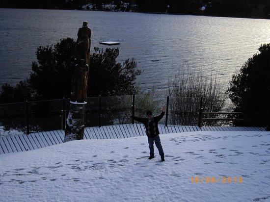 Cabanas Puerto Pireo: y amaneció con nieve...