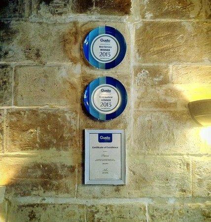 Papannis Italian Restaurant: PAPANNIS winner of the best maltese food restaurant award 2013 winner of best service award 2013