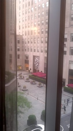 The Jewel facing Rockefeller Center: View from our room out to Rockefeller Ctr
