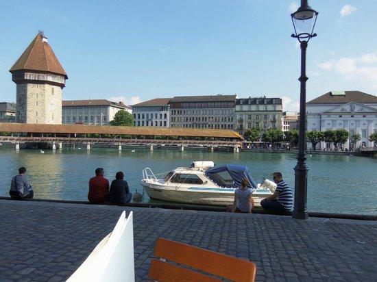 Restaurant Rathaus Brauerei Luzern: the view