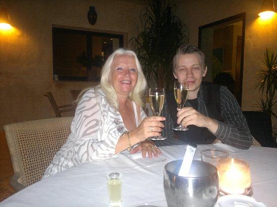 La Bruschetta: Mijn zoon Rob en ik
