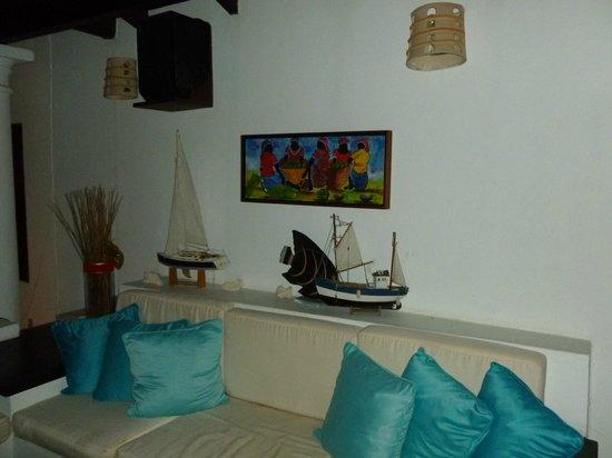 Posada Macanao Lodge: Vista de la sala de TV