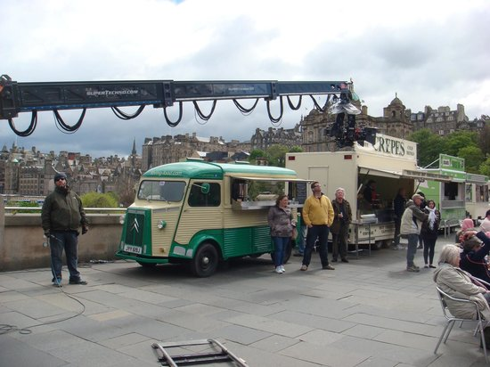 Loving Food Truck: Hervè on the film set of Sunshine on Leith, Edinburgh