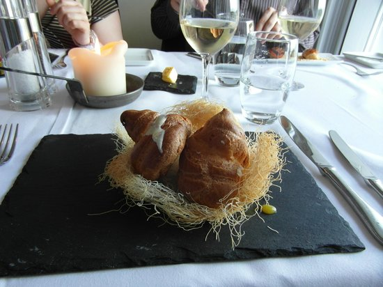 The Lodge at Ashford Castle : Bird's Nest starter, Wilde's Restaurant at Lisloughrey Lodge