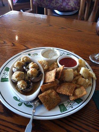 Olive Garden: Appetizer trio