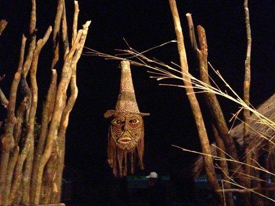 Pan Zam Tourism Project Development Limited - Elephant Oasis Bush Dinners : our village entrance