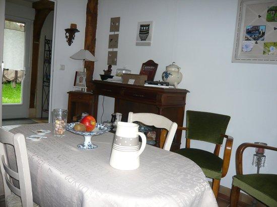 La Hécanderie : salle petits dejeuner