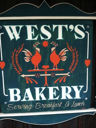 West's Bakery Incorporated: their sign