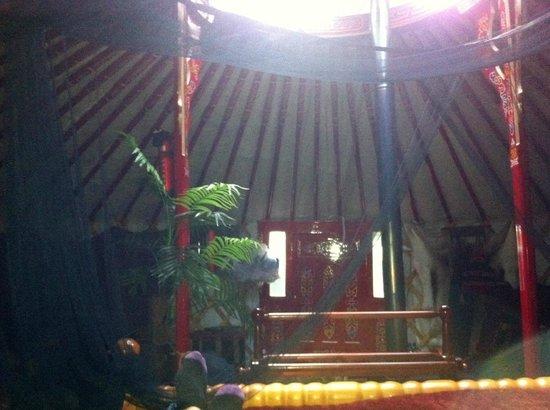 Sopley Lake Yurt Camp: yurt inside