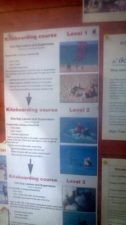 Kite Beach Hotel: prices for the kiteboarding school on hotel property
