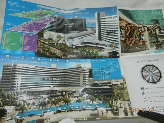 HOTEL MAP Picture of Fontainebleau Miami Beach Miami Beach