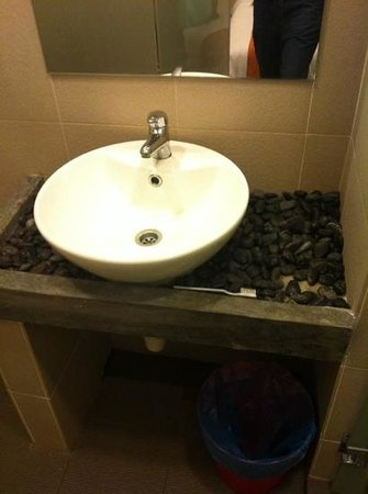 The Verve Hotel at Ara Damansara: toothbrush at sink when I checked in