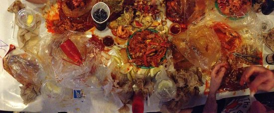 The Boiling Crab : In progress mess