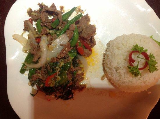 Blue Dolphin : Popular Khmer dish Char Kdao Chicken $3
