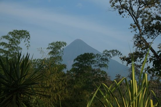 Princesa de la Luna Eco Lodge: A view from the patio on the hotel of Mt Arenal