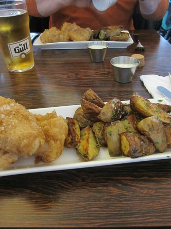 My dinner picture of icelandic fish chips reykjavik for Icelandic fish and chips