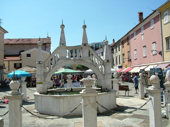 Koper Cathedral and Bell Tower: Fountain