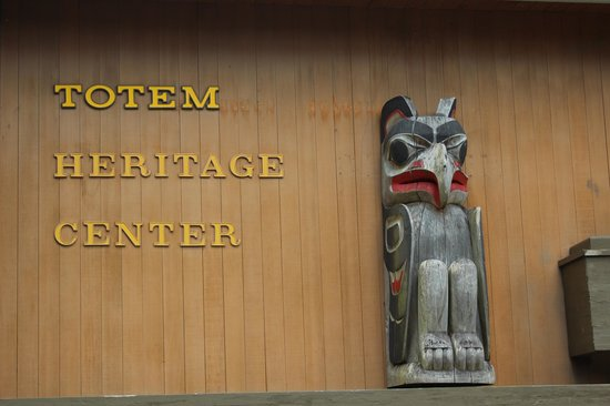 Totem Heritage Center: Heritage Center sign