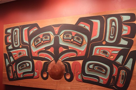 Totem Heritage Center: Panel from Tlingit house