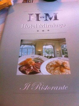 Ristorante Miralago : menu
