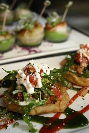 Theodores : Pork Sopitos and Fava Bean Scallops
