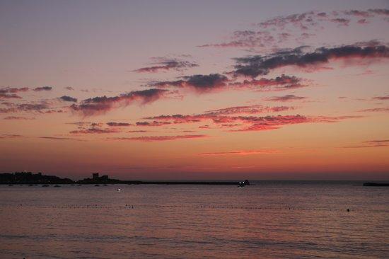 Hôtel de la Plage : coucher de soleil